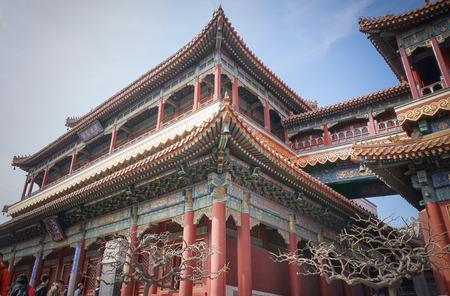 far east: Beijing, China - Yong He Gong, el Templo Lama Foto de archivo