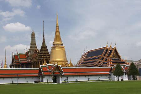 Wat Phrasrirattana Sasadaram (Wat Phra Kaeo) Stock Photo