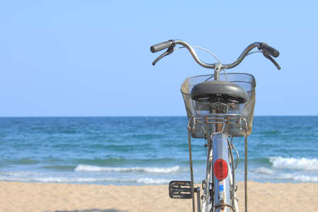 Bicycle in seaside Stock Photo