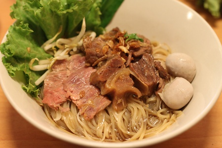 rice noodles with the beef photo