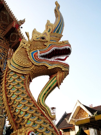 Dragon by a Buddhist Temple