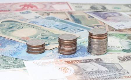 currency around the world banknotes and coins Stock Photo - 10793732
