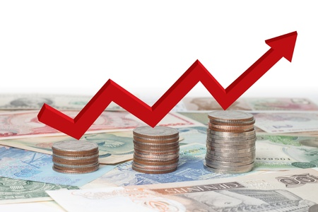 Business related to finance around the world Stock Photo - 10793728