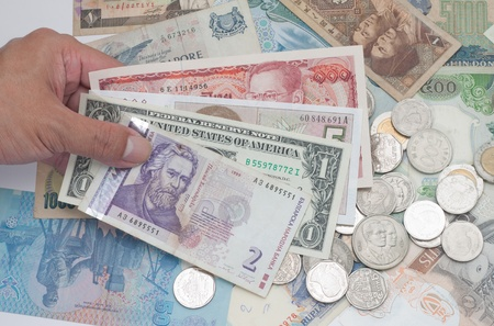 currency around the world banknotes and coins Stock Photo - 10793758