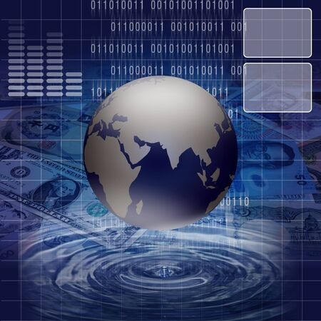 subtraction: Economic and financial-related businesses around the world. Stock Photo