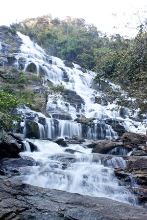 A beautiful waterfall in the National Park Doi Inthanon in northern Thailand Stock Photo - 12433587