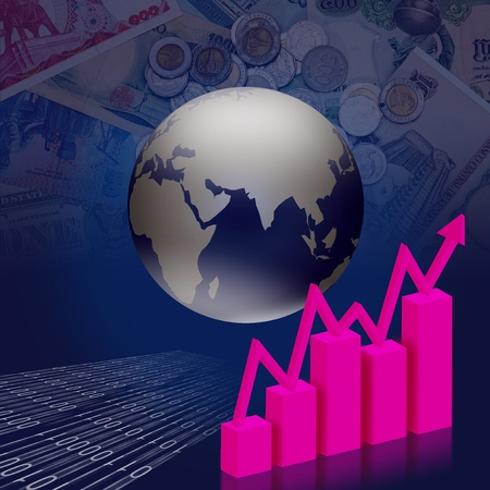 Economic and financial-related businesses around the world. Stock Photo - 12929686