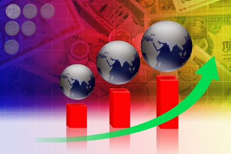 Economic and financial-related businesses around the world. Stock Photo - 14561712