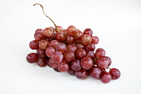 a faction: Fresh red grapes