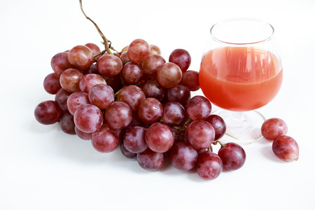 a faction: Fresh red grapes with grape juice