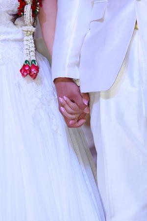 idealism: Beautiful wedding couple is enjoying wedding