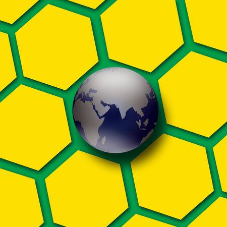 voetbal van Brazilië 2014 Stockfoto