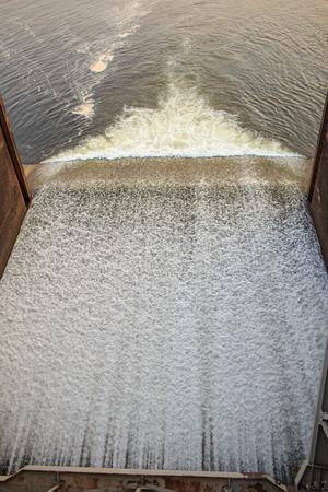 Water being released from door a dam