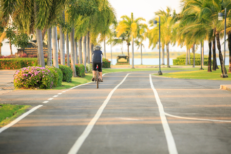 ride bicycle in the park