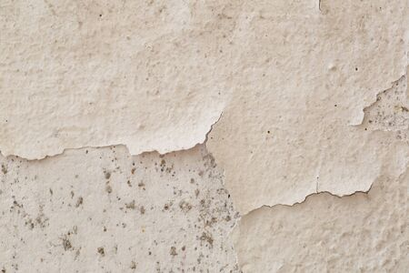 Cracked cement white wall background