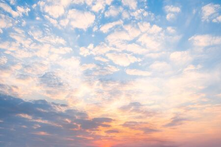 Beautiful morning sky, colorful light of morning clouds, conceptual background image
