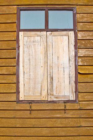 wood window and wood wall  photo