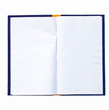 broadside: a blue book isolated on a white background