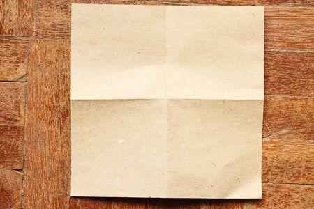paper on wood floor