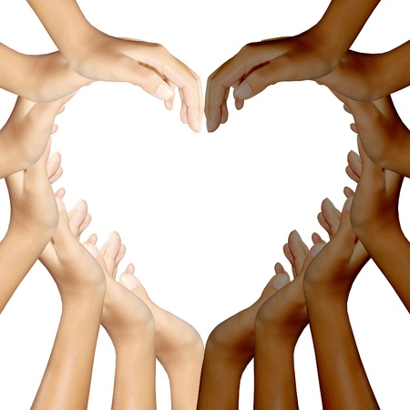 hands making a heart Stock Photo