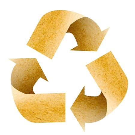 recycle logo: Recycle Logo with old paper