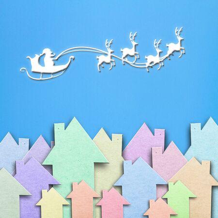 Santas paper photo
