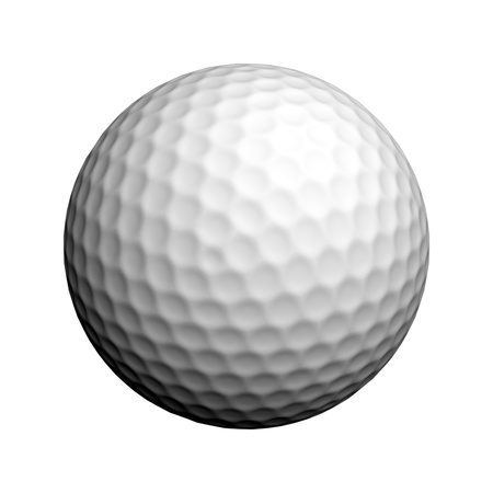 golf equipment: Golf ball isolated on white background