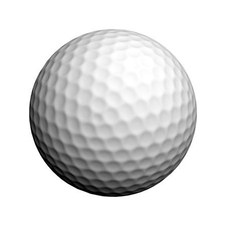 balle de golf: Une balle de golf isol� sur fond blanc Banque d'images