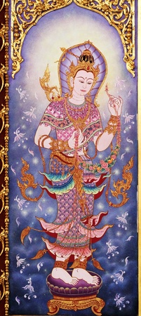 asian angel: Art Thai style in temple