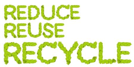 reduce reutiliza recicla: Las palabras a reducir, reutilizar, reciclar est�n escritos componen de elementos de la tierra