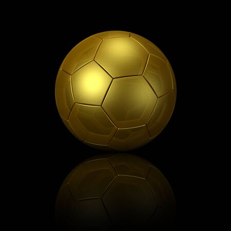 shootout: soccer ball gold