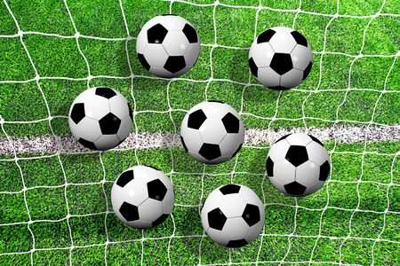 football pitch: soccer ball on soccer field