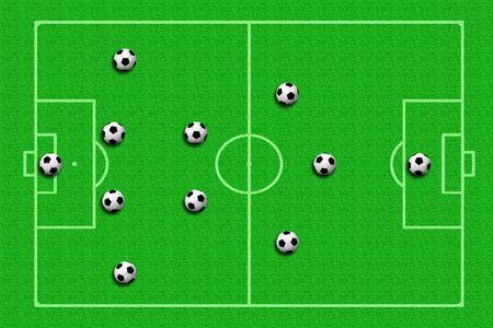 tactics: soccer ball Tactics Stock Photo