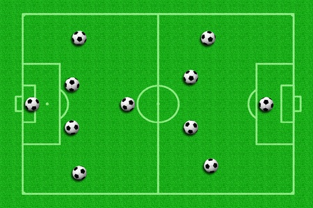 ballsport: soccer ball Tactics Stock Photo