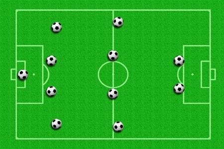 soccer ball Tactics Stock Photo - 11871254