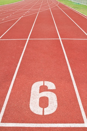 sport running track Stock Photo