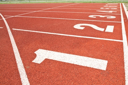 sport running track Stock Photo