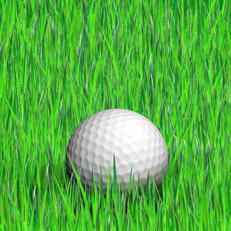 Golf ball on a grass photo