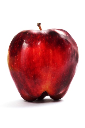 rancid: Rotten apple on a white background