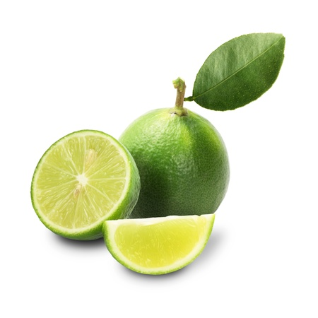 Lime isolated on a white background + Clipping Path photo