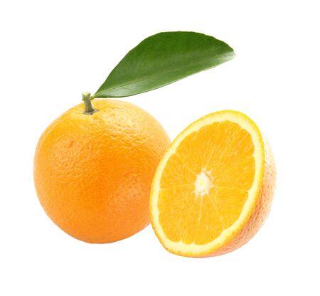 Orange fruit isolated on a white background  photo