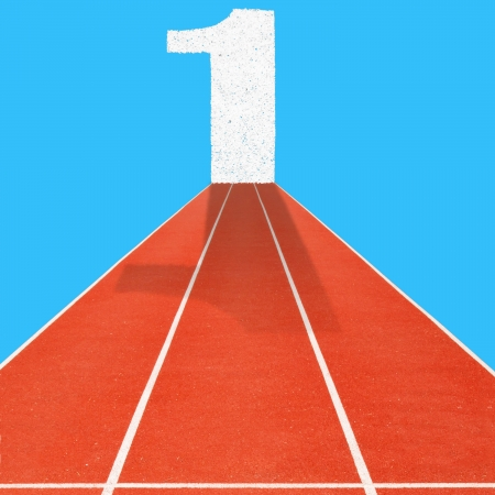 one lane: sport running track To one