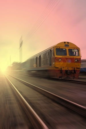 Train in the morning. photo
