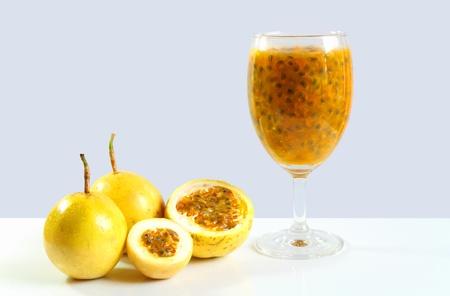passion fruit juice. Stock Photo