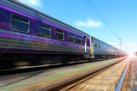 Train in the morning. Stock Photo - 11252832