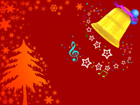 Background of Christmas bells. photo