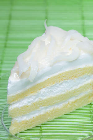 Fresh coconut milk cake  photo
