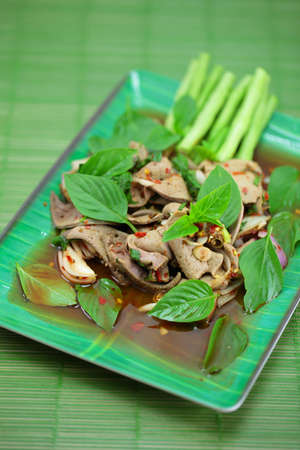 Thai cuisine is made from animal liver  photo