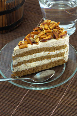 fresh milk almond cake  photo