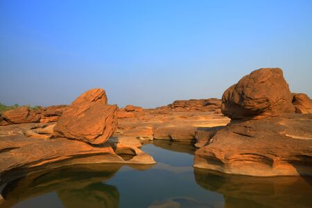 Part of the tourist attractions samphanbok Ubon Ratchathani in Thailand Stock Photo - 12921700